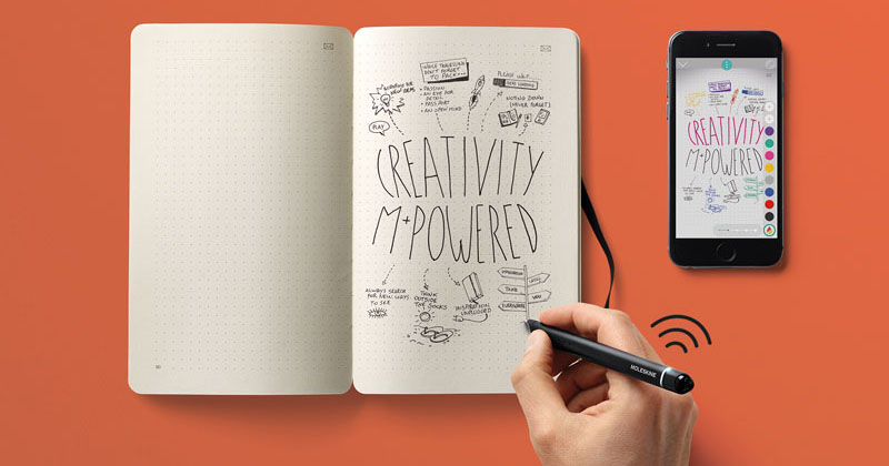 You can now sketch in a notebook and have it digitized instantly