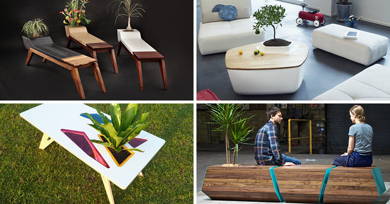 13 Awesome furniture designs that have built-in space for plants
