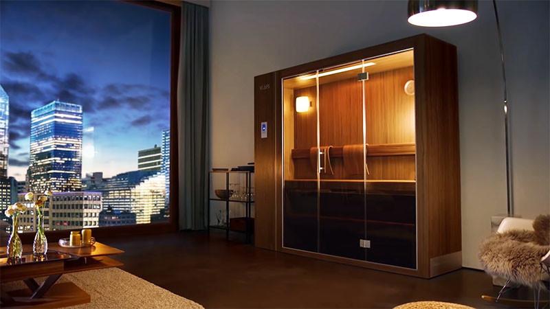 German sauna and spa company KLAFS, have designed a retractable sauna for the home.