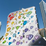 This new mural of colorful clouds is here to brighten up your day