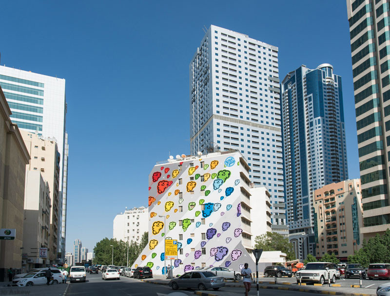 Colourful mural in Sharjah, UAE, by MYNEANDYOURS