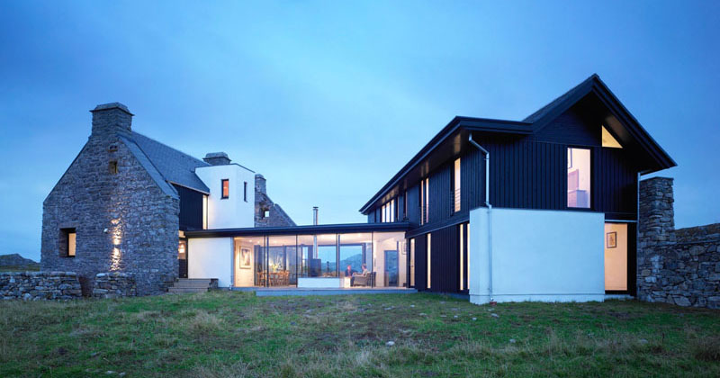 This home on a Scottish island combines the old with the new