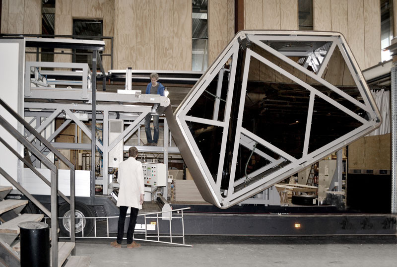 Wikkelhouse, a little house made from cardboard by Fiction Factory