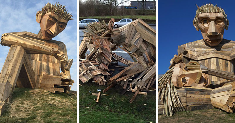 This Sculpture Was Destroyed In A Storm And Brought Back To Life