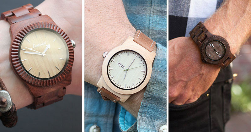 Modern wood watches are a great way to add style and a touch of nature to your outfit. Here's 15 wood watches to inspire your next fashion choice. #ModenWoodWatches #Style #WoodWatches #Watches