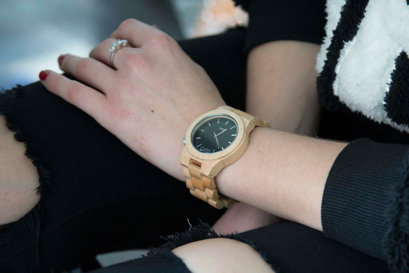 A modern maple wood and stainless steel watch. #ModenWoodWatches #Style #WoodWatches #Watches