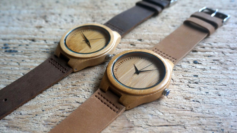A modern bamboo and leather watch. #ModenWoodWatches #Style #WoodWatches #Watches