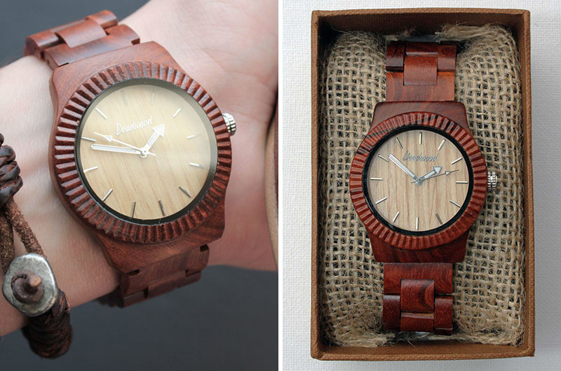 A modern two-toned wood watch. #ModenWoodWatches #Style #WoodWatches #Watches