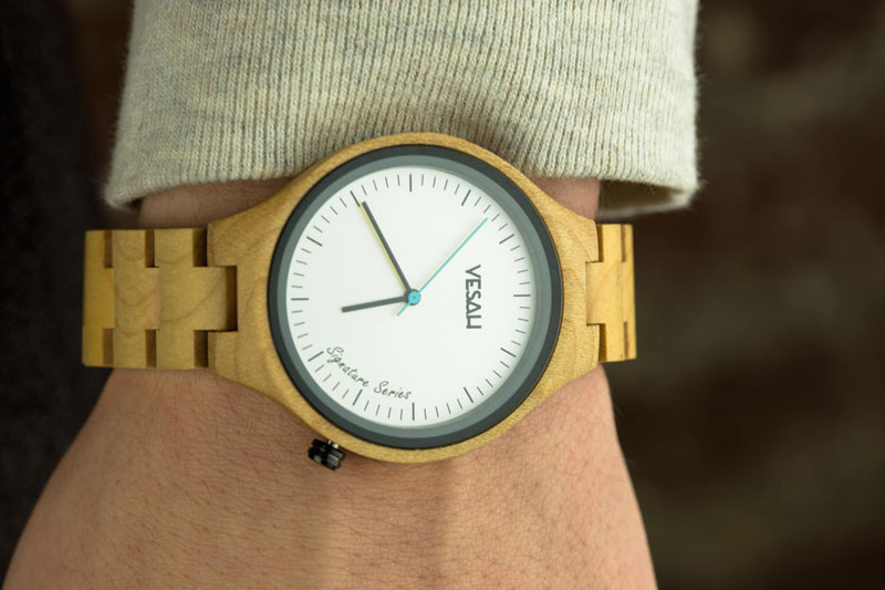 A modern light wood watch.  #ModenWoodWatches #Style #WoodWatches #Watches