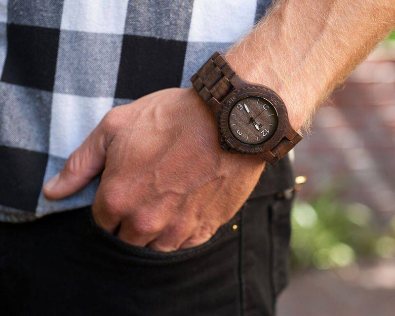 A modern wood watch made from natural Indian Rosewood.  #ModenWoodWatches #Style #WoodWatches #Watches