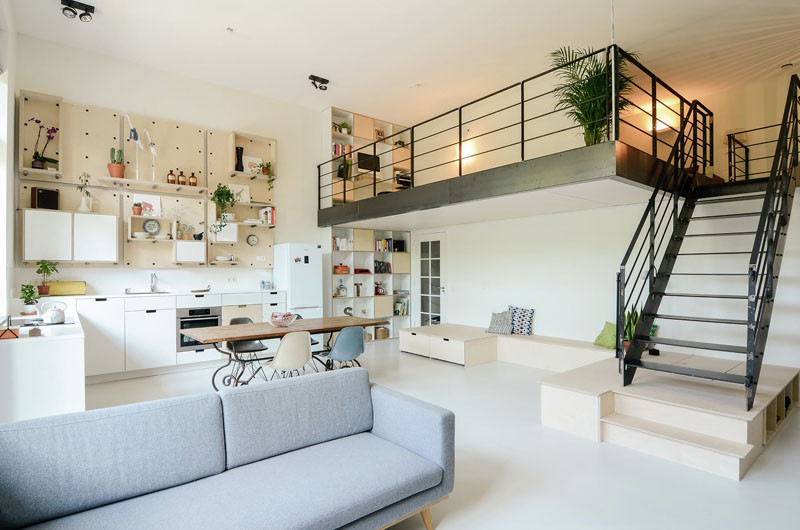 An old school building has been converted into a new apartment for a young family
