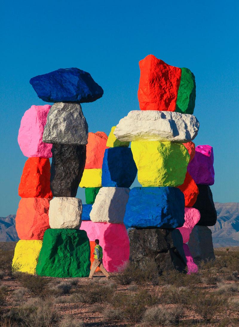 'Seven Magic Mountains' by Ugo Rondinone