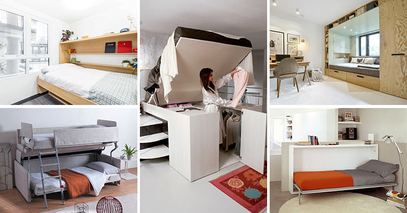 13 amazing examples of beds designed for small rooms for Small room with two beds