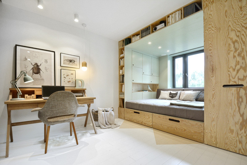 Superior Beds For Small Spaces Part - 6: 13 Examples Of How To Include A Bed In A Small Room