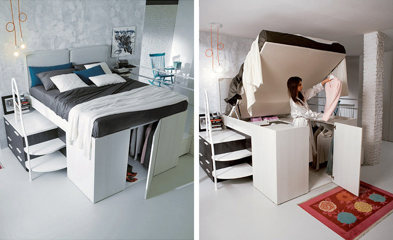 Beds For Small Spaces Part - 18: 13 Examples Of How To Include A Bed In A Small Room