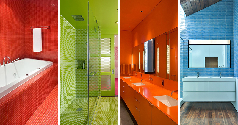 13 Inspiring Bold Colorful Bathrooms For Those Who Love Color