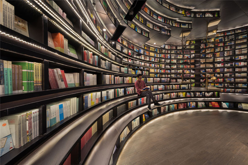Zhongshuge Bookstore in Hangzhou, designed by XL-MUSE