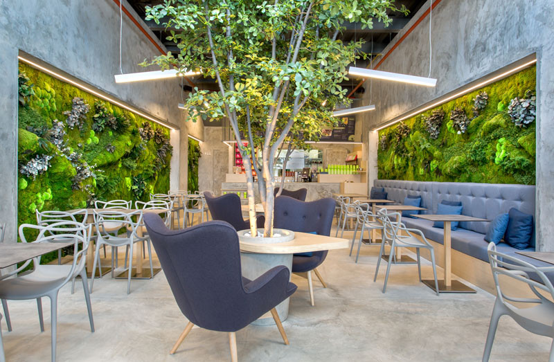 This Fast Food Restaurant Feels Like You're Dining In A Park