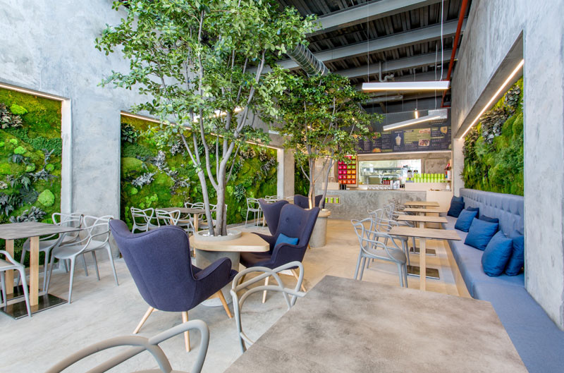 This Fast Food Restaurant Feels Like You're Dining In A Park ... Feel Food on