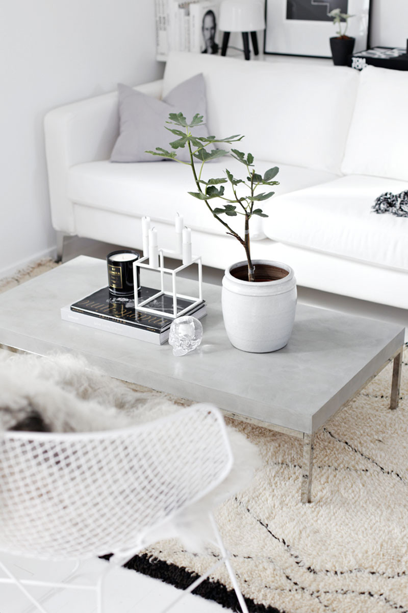 Coffee Table Decor Tray Grey