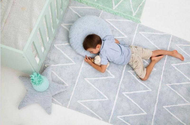Softer pastel colored rugs are perfect for nurseries. #KidsRug #ColorfulRug #ModernRug #NurseryRug #PastelRug