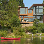This New Contemporary Home Sits Next To A River In Oregon