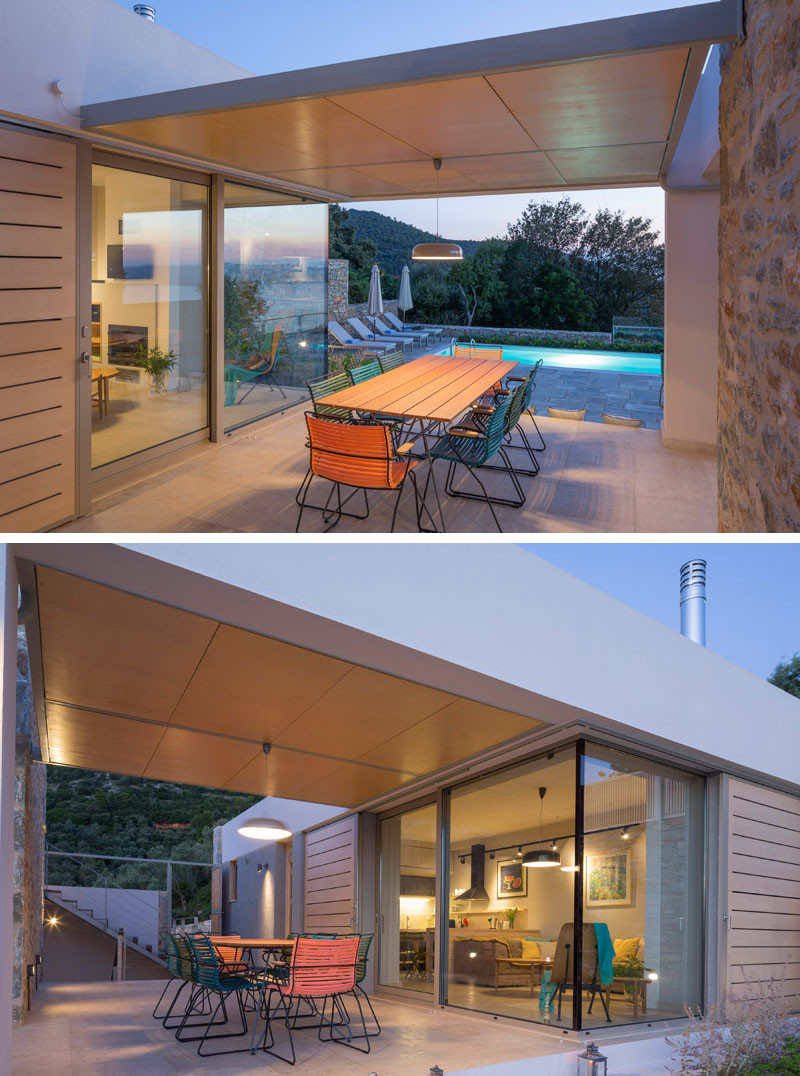 This covered alfresco dining area is perfect for entertaining.