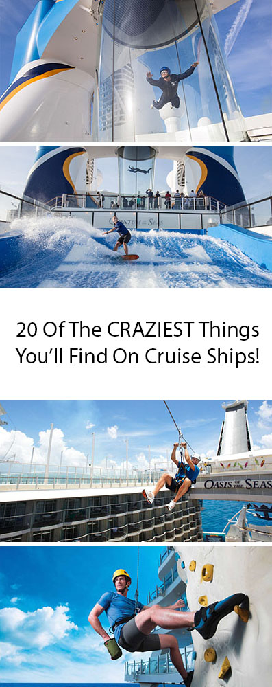 20 Of The Craziest Things You'll Find On Cruise Ships!