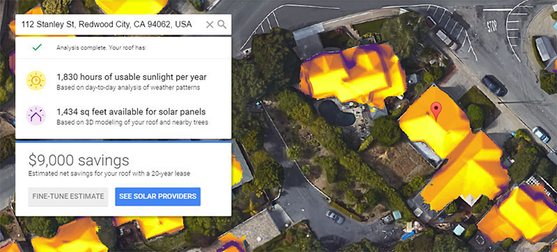 Google's Project Sunroof Will Help You Figure Out If Solar Panels Should Be Installed On Your Homes Roof.