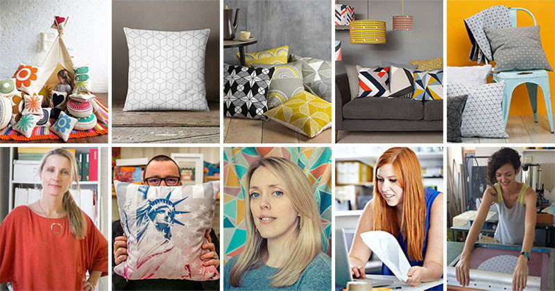 Graphic Print Pillows And The People Who Made Them