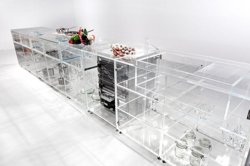 The Infinity Kitchen, a fully transparent kitchen, designed by MVRDV
