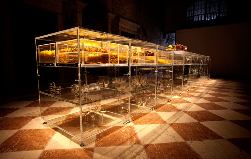 The Infinity Kitchen, a fully transparent kitchen, designed by MVRDV