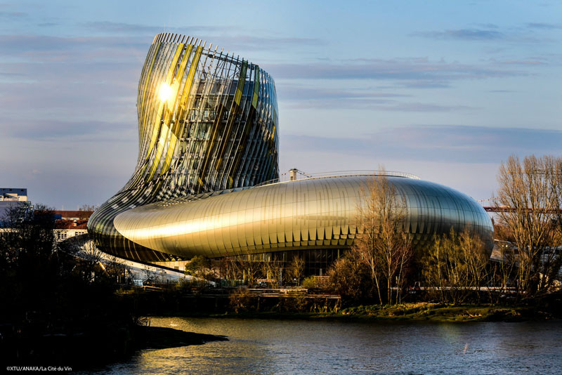 """La Cite du Vin"", or ""the City of Wine"", is a mix between a theme park and a museum all about WINE opening June 1, in Bordeaux, France, the wine capital of the world."