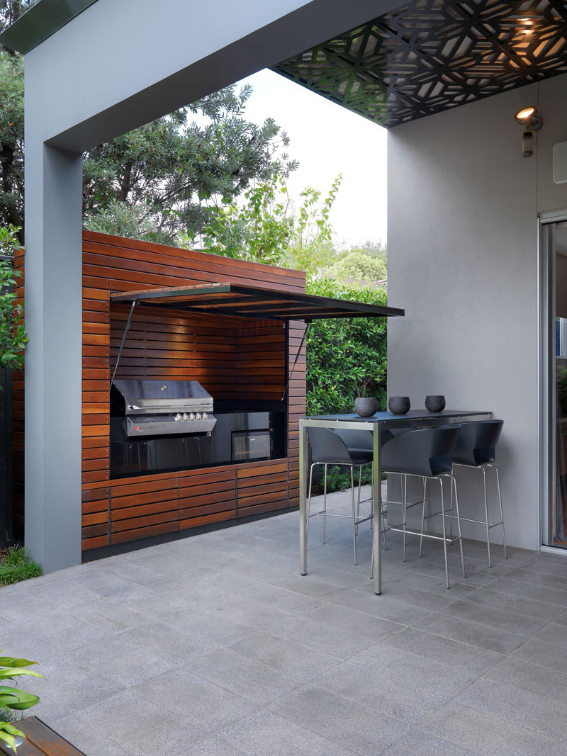 10 awesome outdoor bbq areas that will get you inspired for summer grilling contemporist. Black Bedroom Furniture Sets. Home Design Ideas