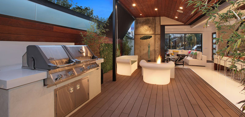 10 Awesome Outdoor BBQ Areas That Will Get You Inspired ... on Patio Grilling Area id=56998