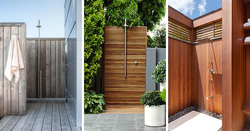 Captivating Awesome Examples Of Outdoor Showers