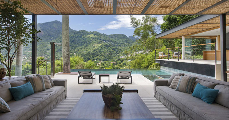 This Pool House Has Picturesque Views Of The Mountainous Countryside