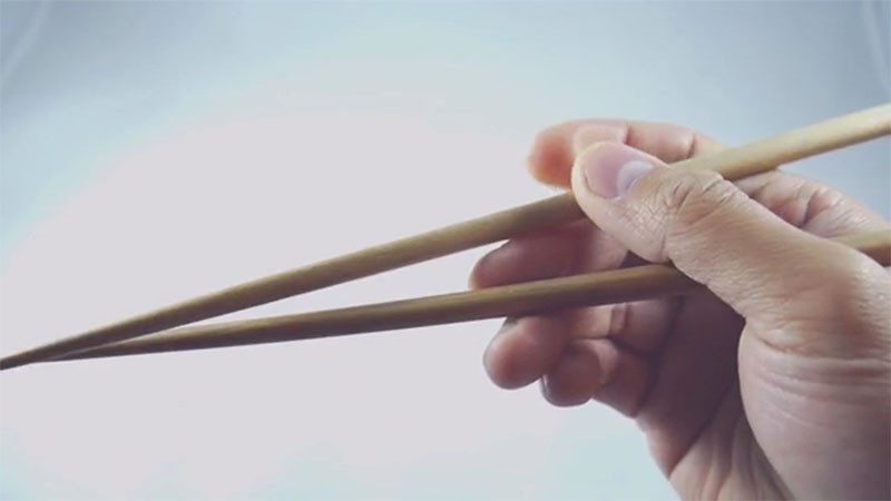 These chopsticks make it way easier to pick up your food...they've got grip
