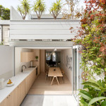 The Kitchen In This House Flows From Inside To Outside