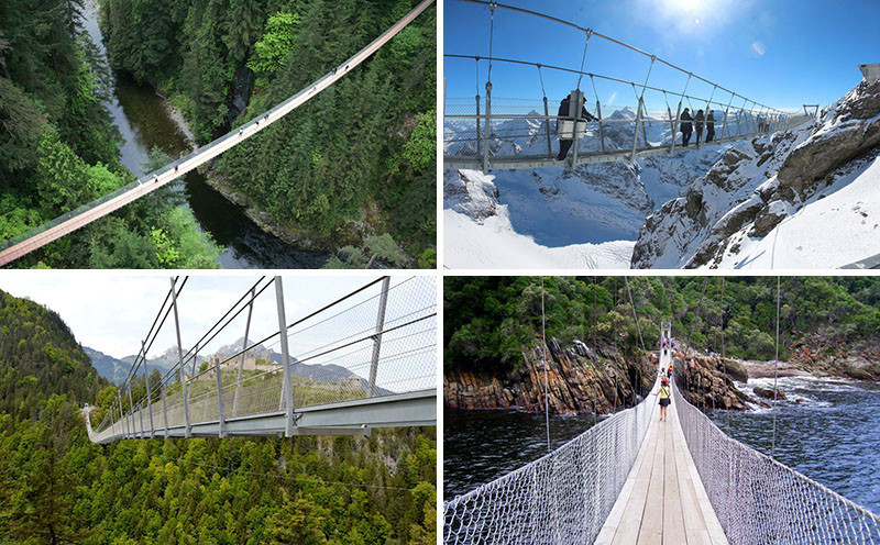 10 Of The Most AMAZING Suspension Bridges In The World