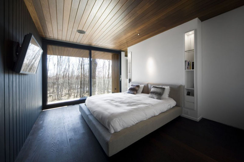 These Dark Wood Ceilings In A Home Canada