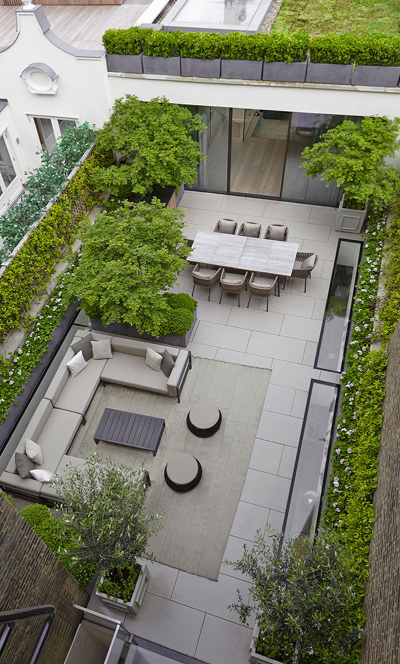 16 inspirational backyard landscape designs as seen from above
