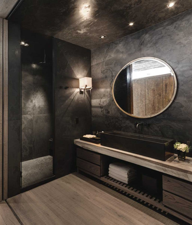 Charming 15 Examples Of Bathroom Vanities That Have Open Shelving // 4.The Open Shelf