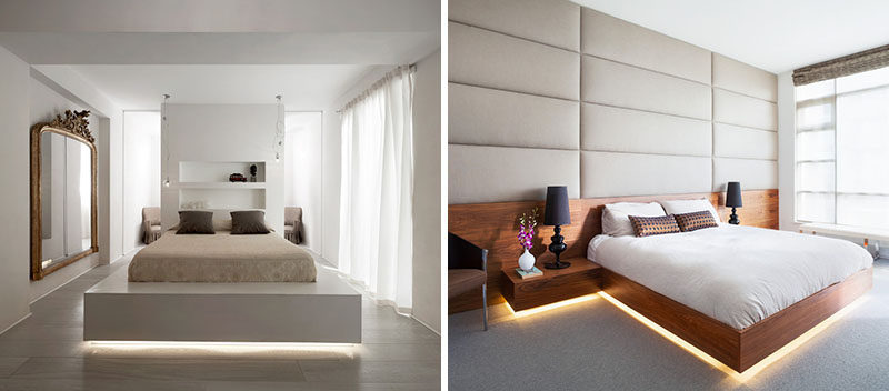 9 Bedrooms With Beds That Feature Hidden Lighting