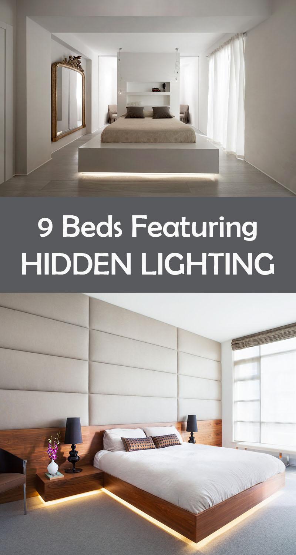 9 Bedrooms With Beds That Feature Hidden Lighting