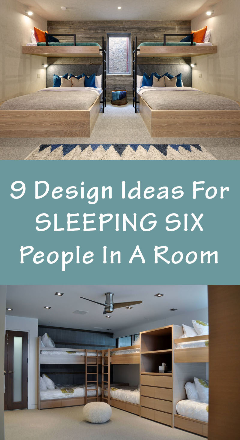 9 Design Ideas For Sleeping Six People In A Room