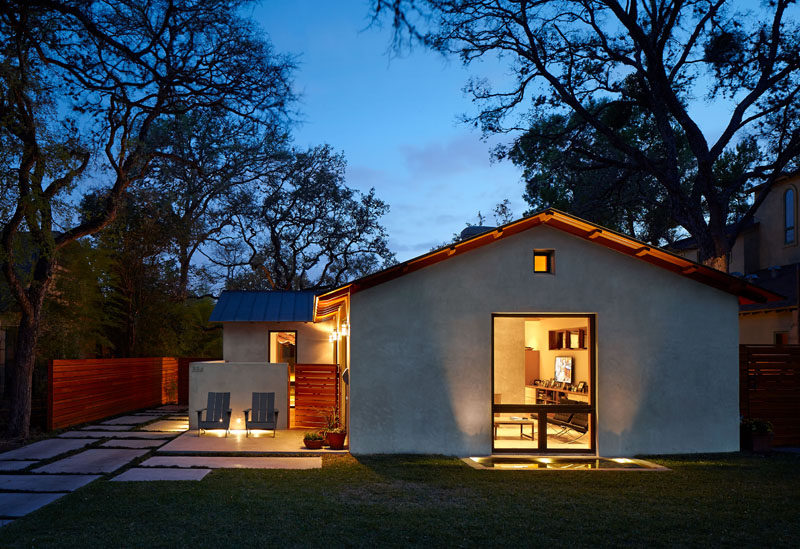 This wood and concrete home in Alamo Heights, Texas, was renovated for a family of three.