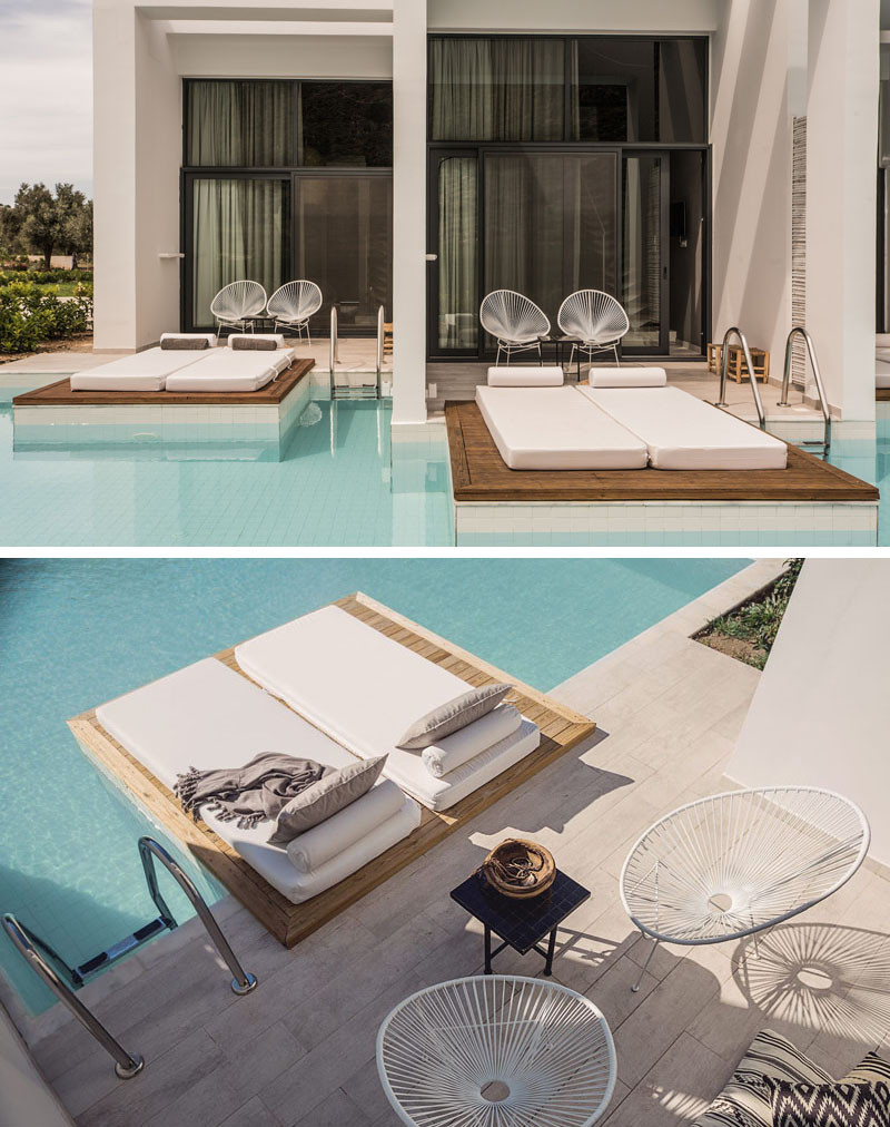 17 Pictures Of The Recently Opened Casa Cook In Rhodes, Greece // The private decks that are attached to each hotel room.