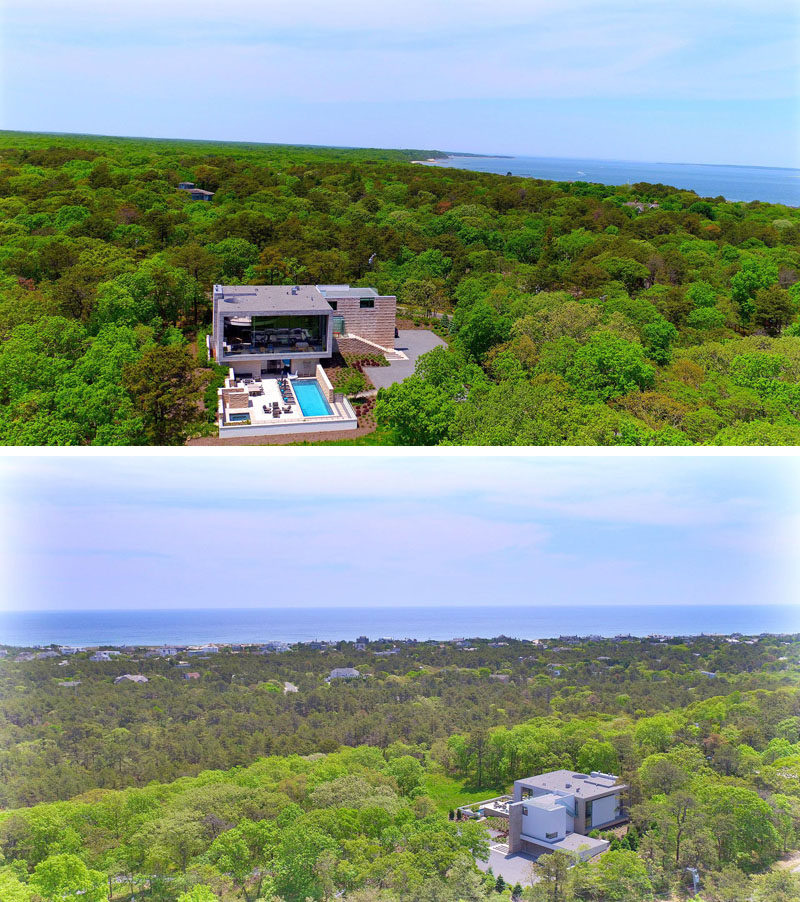 This home in the Hamptons is surrounded by nature.