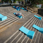 This Simple Colorful Seating Was Added To Make Sitting On Stairs Next To A River More Comfortable